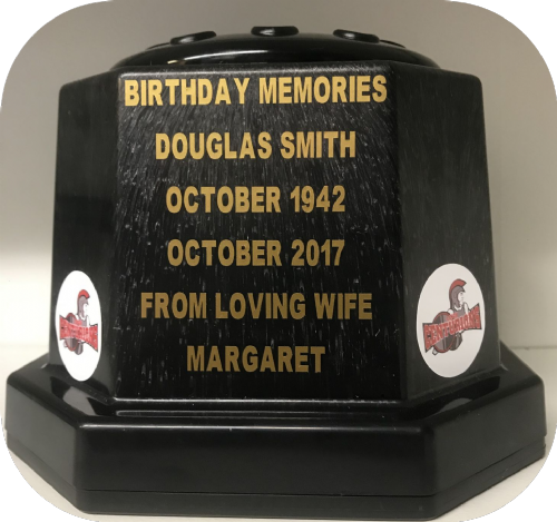 Leigh Centurions Rugby personalised grave pot